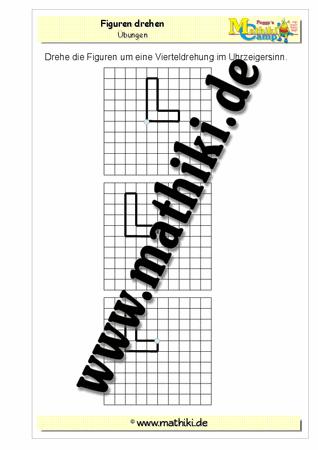 Figuren drehen I (Klasse 4) - mathiki.de