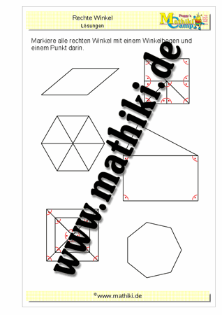 Rechte Winkel Finden Klasse 4 Mathikide