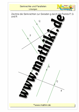 Parallele / senkrechte Geraden (Klasse 5/6) - mathiki.de
